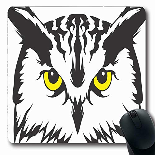 - Ahawoso Mousepads for Computers Bird Creative Owl Barn Tawny Head Cute Design Oblong Shape 7.9 x 9.5 Inches Non-Slip Oblong Gaming Mouse Pad