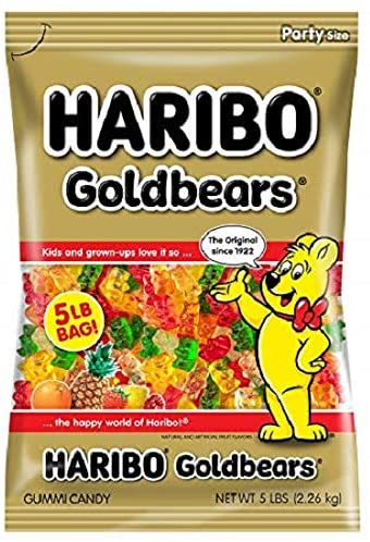 Haribo Gummi Candy Gold Bears 5 Pound Bag Amazon Ca Grocery