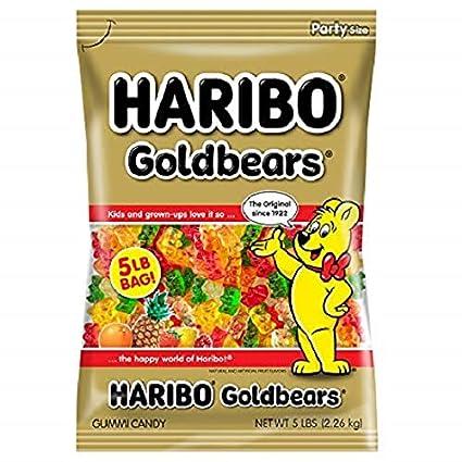 Miniosos dorados Haribo, bolsa de 5 libras de osos ...