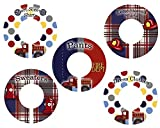 CLOSET DIVIDERS Firetrucks CLOTHING LABELS Bedroom and Baby Nursery Art Decor CD00401
