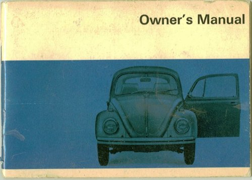 (1969 VW Beetle Bug Owners Manual Volkswage with key code and blank warranty voucher (VW Beetle Bug))