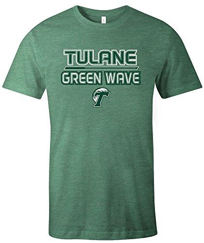 NCAA Tulane Green Wave Reverse Short Sleeve Triblend T-Shirt, (Tulane Green Wave Shirt)