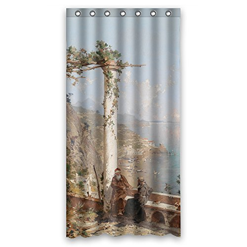 Price comparison product image MaSoyy Shower Curtains Of Beautiful Scenery Landscape Art Painting Polyester Width X Height / 36 X 72 Inches / W H 90 By 180 Cm Best Fit For Kids Mother Mother Kids Girl Girls. Waterproo