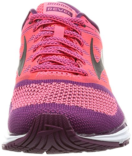 para Brooks de Mujer Running Zapatillas Revel Rosa wq6qI7On