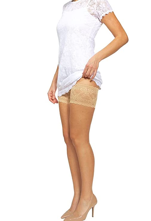 2bdbcaa4cae3c Amazon.com: Bandelettes Elastic Anti-Chafing Thigh Bands - Prevent Thigh  Chafing: Clothing