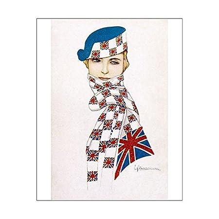 62dbd2fb859 Media Storehouse 10X8 Print Of Union Jack Hat a Scarf (604262)   Amazon.co.uk  Kitchen   Home