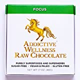 Addictive Wellness Sugar-Free Raw FOCUS Chocolate 3 PACK Vegan & Paleo Purely Superfoods and Superherbs