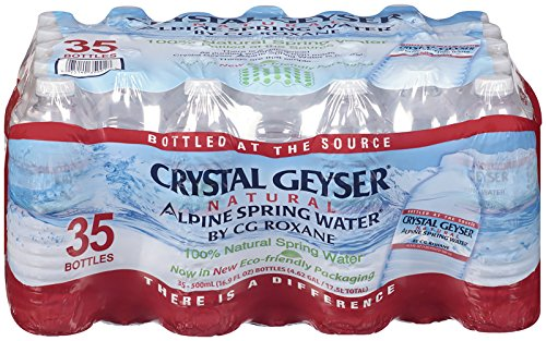 Crystal Geyser CGW35001PL Alpine Spring Water, 16.9 oz. Bottles, Bottled at the Source (Pack of 1890)