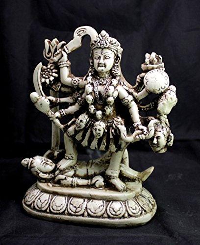 Krishna Mart India Hand Carved Meditating Hindu Goddess for sale  Delivered anywhere in USA