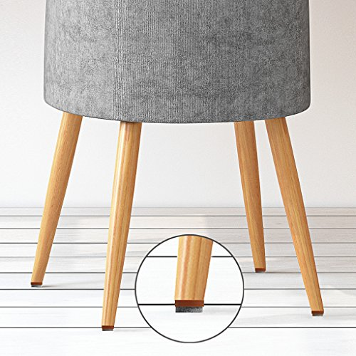 40pcs Round Heavy Duty Nail-on Anti-Sliding Felt Pad(Dia 1.1'' or 28mm,brown) for Wooden Furniture Chair Tables Leg Feet By Alimitopia by HuanX35 (Image #5)