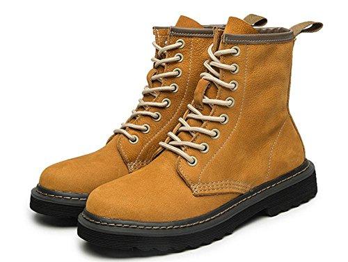 De Real Zapatos Tobillo 5 uk Nvxie Ocio 38 Aire 5 Cuero Las Primavera Eur Plano Británico Estilo Botas Mujeres Al Yellow Otoño Libre Martín eur36uk354 Negro qwwt7P0