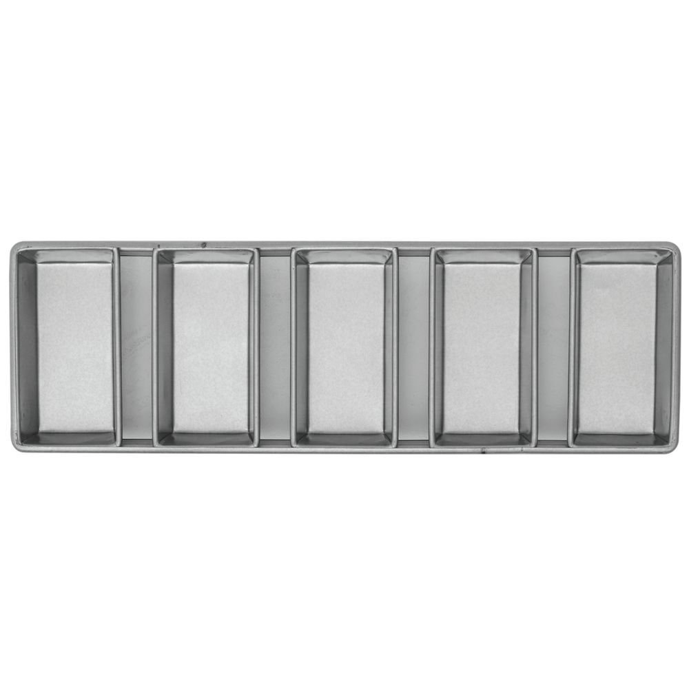 Chicago Metallic Strapped Steel Bread Pan 5-Loaf Pan Set
