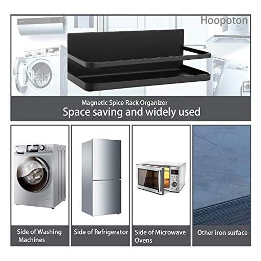 Kitchen Magnetic Spice Rack Organizer Single Tier Refrigerator Spice Storage Shelf, Easy to Install The Side of The Refrigerator… spice racks