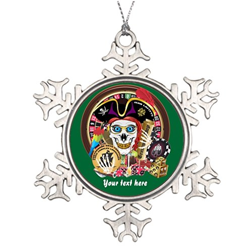 IMarie Personalised Christmas Tree Decoration Lake Charles Holiday Snowflake Ornaments Pirate