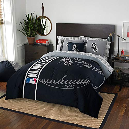 MLB Chicago White Sox Soft & Cozy 7-Piece Full Size Bed in a Bag -