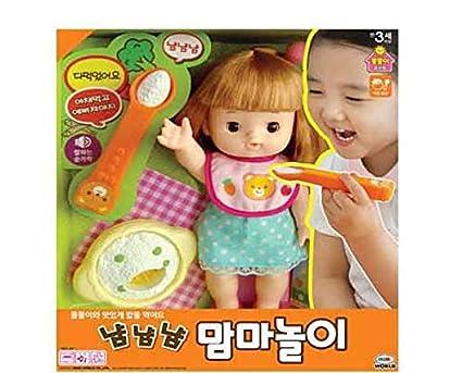 Amazon Com Mimi World Ddol Ddoly Feeding Baby Korean Toy Children