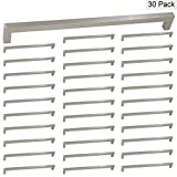 Modern Square Cabinet Drawer Pulls Handles Brushed Nickel 11-1/3inch(288mm) Hole Centers - Homidy HDJ12 Stainless Steel Kitchen Furniture Hardware 30Pack