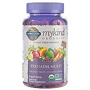 Garden of Life - mykind Organics Prenatal Gummy Vitamins - Berry - Organic, Non-GMO, Vegan, Kosher Complete Multi - Methyl B12, D3 & Folate - Gluten, Soy & Dairy Free - 120 Real Fruit Chew Gummies