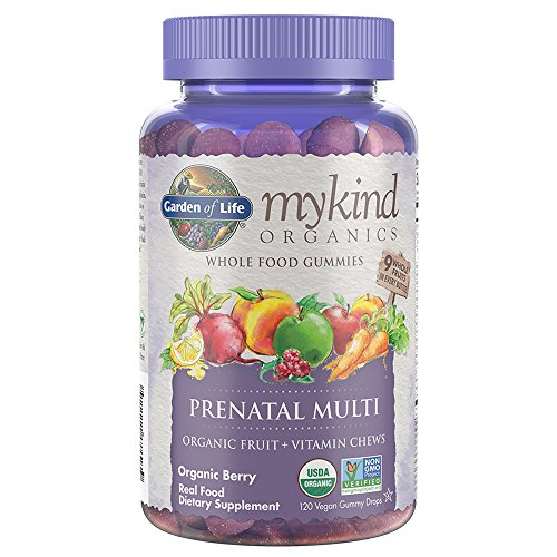 Kosher Prenatal Vitamins (Garden of Life Prenatal Gummy Vitamin with Folate - mykind Organics Gummy Multivitamin for Women, 120 Count Certified Organic Fruit Chews)