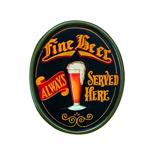 Fine Beer Pub Sign - RAM Gameroom Products Pub Sign, Fine Beer Always Served Here