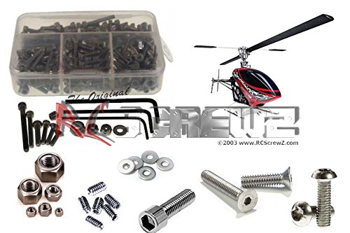 RC Screwz Stainless Steel Screw Kit for Thunder Tiger G4 Electric Heli ()
