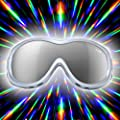 GloFX Padded Diffraction Ski Goggles Rave Rainbow Prism Kaleidoscope Lightshow Lenses