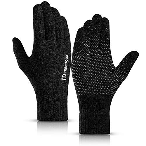 Touch Screen Gloves, TRENDOUX Unisex Knit Winter 360
