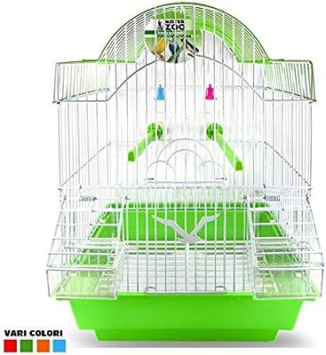 Jaula para Pájaros Canarios loros diseño Pagoda con accesorios ...