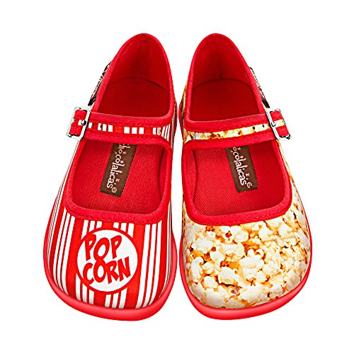 Popcorn Halloween Costumes Homemade (Hot Chocolate Design Mini Chocolaticas Popcorn Girls Mary Jane Flat Multicoloured HCD)