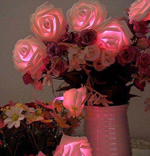 DGS 1.5 Meters 10 Lights Led Small Light String Wedding Arrangement Simulation Bubble Rose Christmas Valentine Day Decoration Night Light , 4