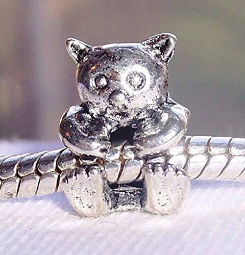 Teddy Bear Zoo Stuffed Animal Toy Charm for Silver European Bead Slide Bracelet id-79