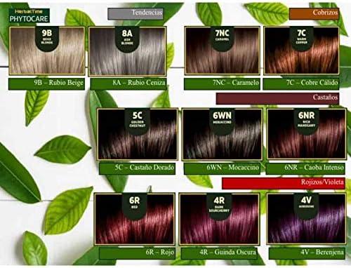 Phytocare Tinte permanente y nutritivo para cabello sin amoniaco, sin PPD, sin SLS, sin parabenos Color Rubio Oscuro 7N