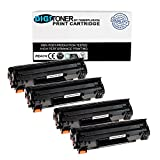 TonerPlusUSA Digitoner New Compatible HP CE285A 85A Laser Toner Cartridge for HP Laserjet M1132, HP M1212Nf MFP, M1217Nfw Mfp, P1102, P1102W, 1102W, M1130, M1210, Black, 4 Piece