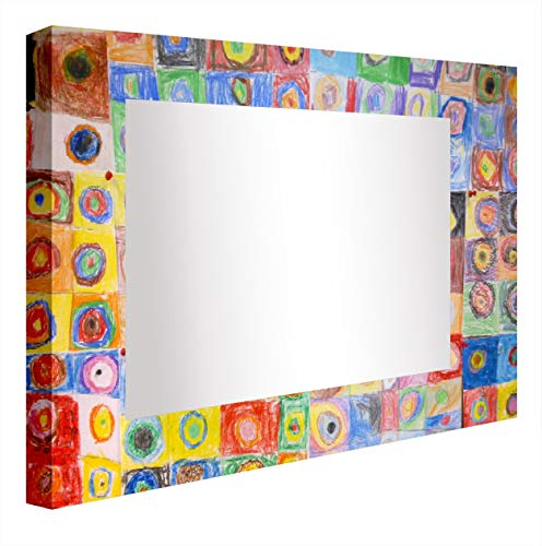 - Ccretroiluminados Kandinsky Illuminated Bathroom Mirror, Acrylic, Multicoloured, 60 x 5.3 x 60 cm