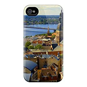 Iphone 4/4s Case Cover - Slim Fit Tpu Protector Shock Absorbent Case (old New Riga Latvia)