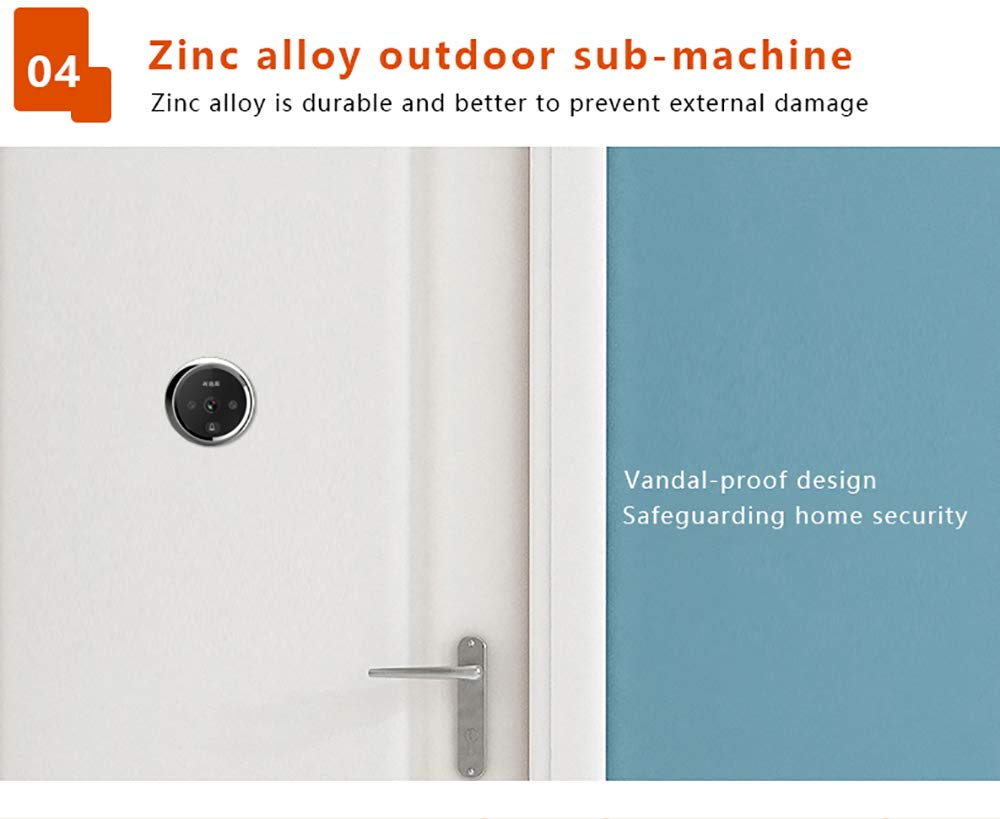 3 Inch No Disturbing Digital Door Viewer Security Cameras Door Cat Eye Doorbell with Night Vision by Asunflower (Image #8)