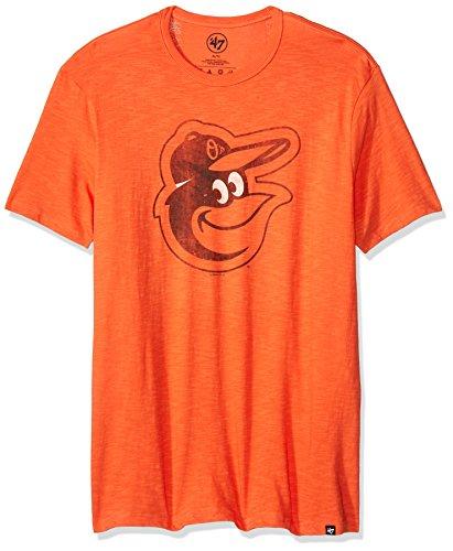 MLB Baltimore Orioles Men's 45951 Scrum Basic Tee, Medium, Carrot (T-shirt Scrum Vintage)