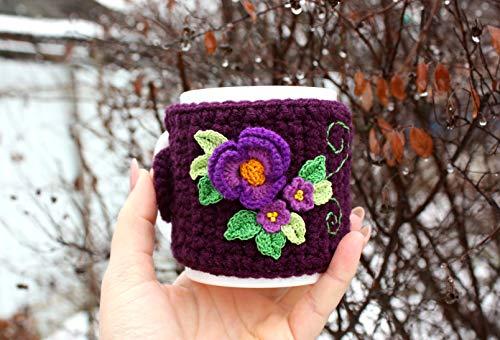 Coffee Mug Cozy, Cup in a knitted cover,Coffee Cup Sleeve, Coffee Cozy, Coffee Cup Cozy, Tea Cozy, Mug Warmer, Coffee Sleeve ()
