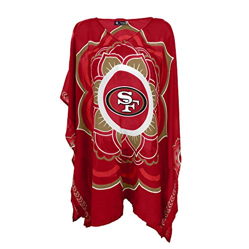 nfl-san-francisco-49ers-womens-nfl-caftan-red-one-size-fits-most