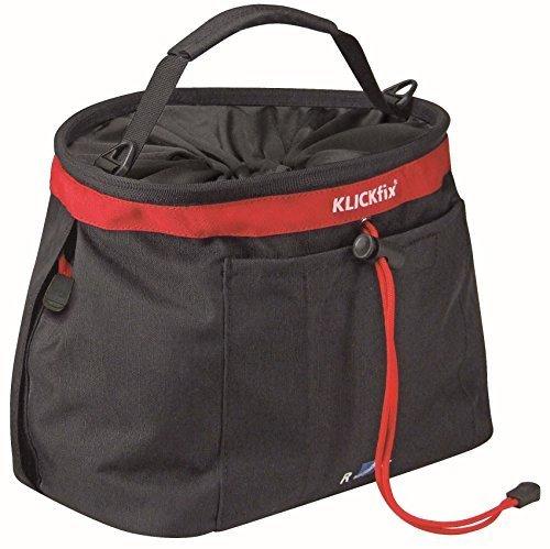 KlickFix bike bags handlebar Light Bag black red by KlickFix