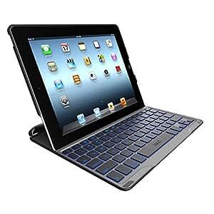 ZAGGkeys Profolio Plus - Funda para Apple iPad 2/3/4, color negro