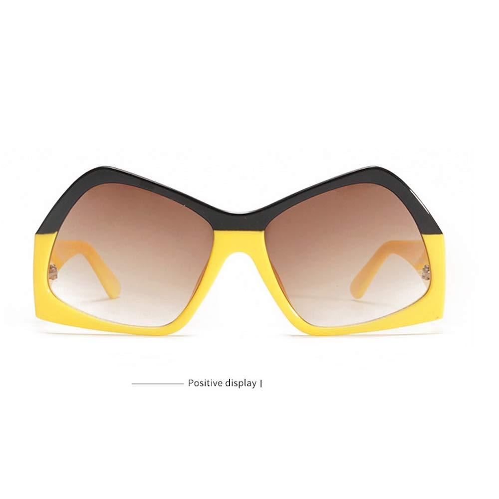 PinkLu Gl/äSer Damen Retro-Stil Sonnenbrillen Schatten Sonnencreme Neues Design Viereckige Linse Beliebt Mode Temperament Sommer Neuer Hei/ßEr Verkauf Beige Rote Gelbe Gl/äSer