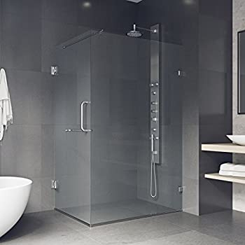 VIGO Pacifica 36 X 48 In. Frameless Shower Enclosure With .375 In