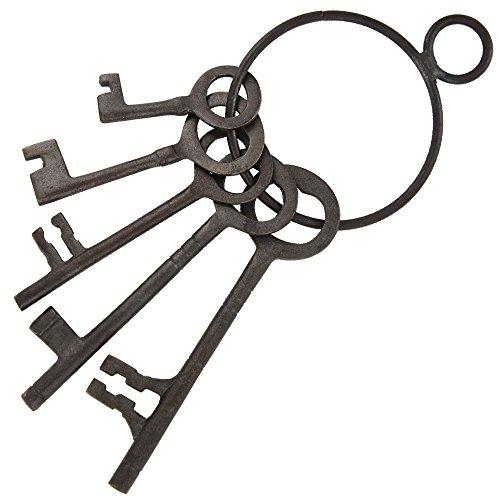 Medieval Please Mister Jailer Iron Dungeon Skeleton Keys (Jailers Keys)