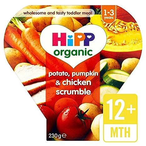 HiPP Patata Org/ánica Meses 230g calabaza y pollo Scrumble 12