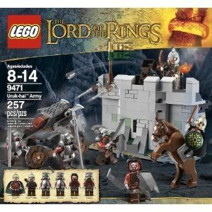 Toy / Game LEGO The Lord Of The Rings Hobbit Urak-Hai Army (9471) With Detachable Catapult And Hook Shooter
