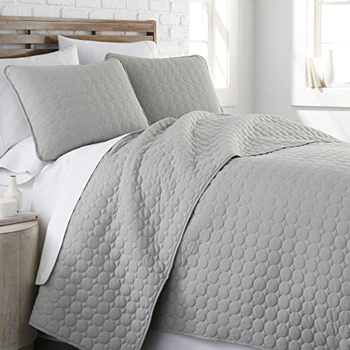 Southshore Fine Living, Inc. Oversized Quilt 2 Piece Set, Twin/Twin XL, Steel Grey