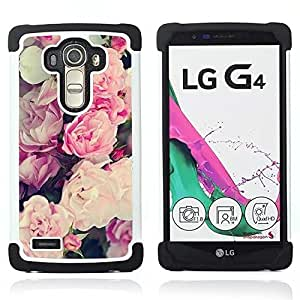 For LG G4 H815 H810 F500L - pink summer spring flowers petals Dual Layer caso de Shell HUELGA Impacto pata de cabra con im??genes gr??ficas Steam - Funny Shop -