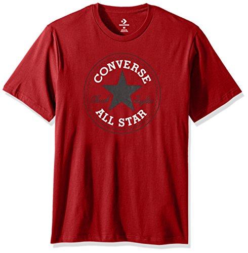 Converse Men's Chuck Patch Short Sleeve T-Shirt, Flame, S