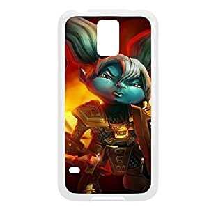Poppy-001 League of Legends LoLDiy For SamSung Galaxy S6 Case Cover Plastic White